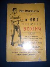 1886  ART OF BOXING  NED DONNELLY'S   PUGILATO