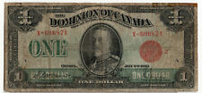 Dominion Canada 1923 $1 One Dollar Red Seal McCavour- Saunders VG King George V
