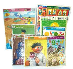 8 Sesame Street Frame-Tray Puzzles - EUC - COMPLETE