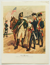 Cavalry Infantry H A Ogden Vintage Historical Military Uniforms in America Print