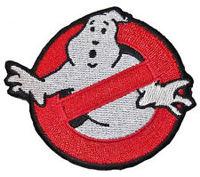 "GHOSTBUSTERS No-Ghost Logo 2 3/4"" Diameter Iron On/Sew On Embroidered PATCH"