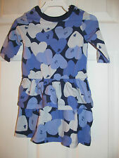 NWT Baby Girls Joe Fresh Long Sleeve Purple Heart Shaped Ruffled dress sz 1