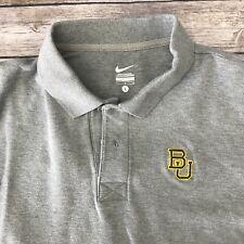 7de58f17b Baylor Bears Nike Gray Short Sleeve Polo Shirt Size L Big 12 NCAA