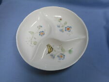 Lenox Divided Serving Dish Relish Butterfly Garden
