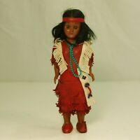 Vintage Native American Cherokee Mother Hard Plastic Doll w/ Baby Souvenir 7 1/2