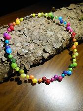 Neu unikat Regenbogen Polariskette bunt Halskette Polaris perlen kette