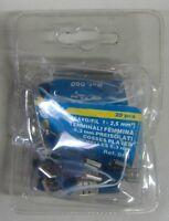 TLM Terminali femmina 6,3 mm preisolati 20 pz ø filo 2,5 / 1 mmq 060 blu nuovo