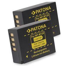 2x PATONA Batteria per NP-W126 FUJI-FILM FINEPIX HS30EXR X-PRO1