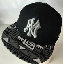 New York Yankees Hat Cap MLB Aztec Print Classic NY Logo Snapback Wool Blend