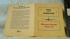 VINTAGE NORTHEAST AIRLINES SONG OF THE YANKEE FLEET MUSIC 1950s ? / ADVERTISING