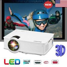 1080P Mini LED LCD Projector 7000 Lumens Home Cinema Theater HDMI USB SD AV VGA