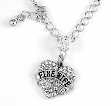 Fire Wife Necklace Fire Wife Gift Firefighter chain FD Present Firefighter Wife