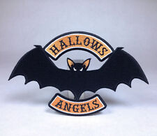 Hallows Eve Halloween Biker Patch - Skull Witch Pumpkin Bat Samhain Ghost Haunt