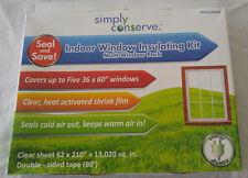"Simply Conserve Film Insulating Kit Enough to Cover 5 36""x60"" Windows 62""x 210"""