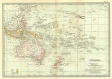 OCEANIA. Pacific. British Francese Tedesco Olandese Portoghese US COLONIE 1903 Mappa