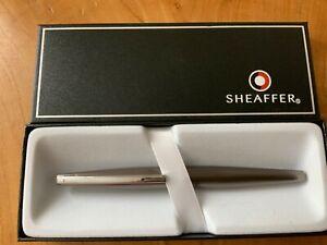 Sheaffer Taranis 9441 Icy Gunmetal Fountain Pen RRP £99 Broad(New) Free UK Post