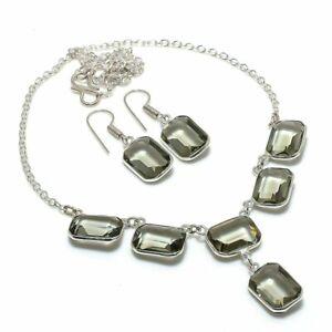 Alexandrite Gemstone Handmade 925 Sterling Silver Jewelry Set UQ-744