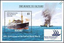 WWII HMAS MANOORA F48 Armed Merchant Cruiser Warship Sinks MV ROMOLO Stamp Sheet
