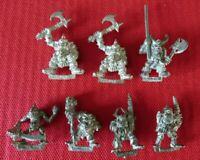 Nurgle Plague & Armoured Black Orc Warriors 7 Citadel Miniatures GW OOP (A53)