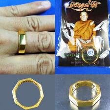 Ring Rahu Mongkol 8 Tit LP Lek Talisman Thai Power Buddha amulet Lucky Size 10