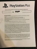 Playstation Plus 3 month Membership Subscription with Code for PS4 PS3 PS Vita