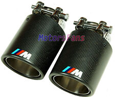 ///M Sport Carbon Fiber Quad Exhaust Muffler Tips 1p FOR BMW1 3 5 7 SERIES B347W