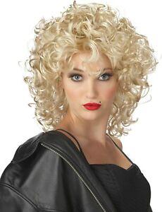Bad Girl Wig Blonde Sandy Madonna Fancy Dress Halloween Adult Costume Accessory