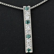 Echte Diamanten-Halsketten & -Anhänger aus Platin mit Brilliantschliff