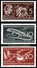 EBS East Germany DDR 1957 Protect Nature Week Michel 561-563 MNH**
