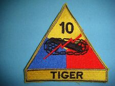 New listing Patch Us Army 10th Armored Division Tiger