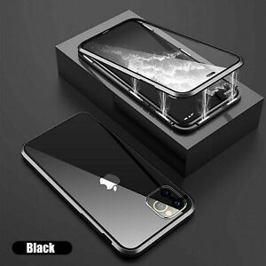 360° FRONT + BACK GLASS Magnetic Phone Case for iPhone 11 12 PRO MAX X XS XR 7 8