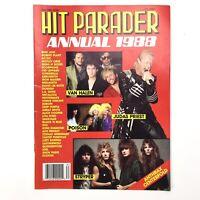 1988 Annual Hit Parader Magazine, Anthrax Megadeth Guns N Roses Metallica