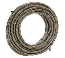 "NEW 100' Southwire Metal Flex Flexible 3/8"" Conduit .375"" Electrical Wire Tubing"