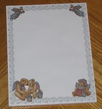 Nita Showers Art - Teddy's Angel Face Vintage 1997 Main Street Press Letter Pad