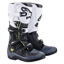 NEW Alpinestars Tech 5 MX Motocross Boots - Black/Grey/White