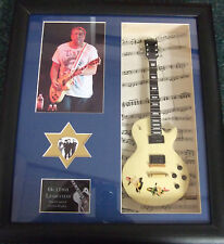 Steve Jones Framed Miniature Tribute Guitar with Plectrum Sex Pistols