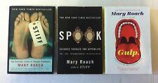 Lot 3 Mary Roach Books (Hardcover) Bonk, Gulp, Spook