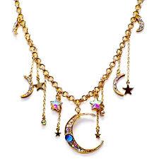 KIRKS FOLLY Astral Princess Statement Necklace  -  goldtone