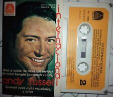 ANDY RUSSEL Internacional RARE SPANISH SUNG  CASSETTE  1978 AMANECER paper label