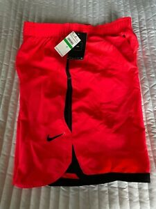 MEN'S NIKE SWOOSH 9 INCH SWIM SHORTS BEACH VOLLEY ORANGE NEW WITH TAGS LARGE