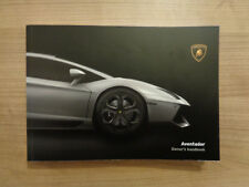 Lamborghini Aventador LP 700-4 Owners Handbook/Manual