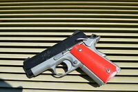 compact/ Officer 1911 grips (Red) Colt, Kimber, RIA