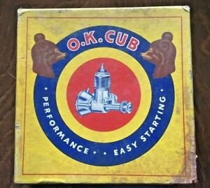 OK Cub .19 Original Box, paperwork, decals only