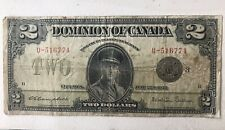 Dominion of Canada $2 Two Dollar Note Ottawa June 23rd 1923 G/F Campbell Sellar