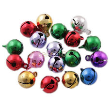 100 Pcs 6.5mm Mixed color Jingle Bells Beads Christmas Charms findings pendants