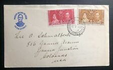 1937 Bechuanaland First Day Cover FDC King George VI Coronation KGVI To Co USA