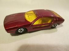 1969 Matchbox Maroon Red Lamborghini Marzal Car England (Thin Superfast Wheels)