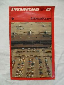 Interflug Information 1983, Broschur DDR Luftfahrt, Iljuschin IL-62