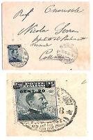 Varietà - Michetti - cent 20 su 15 - soprastampa spostata a dx e in basso - 1916