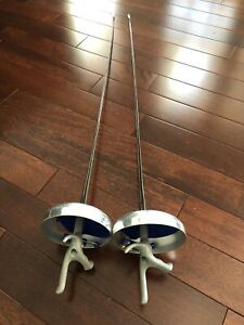 2 Complete Practice Electric Fencing Epee Youth #5 blade pistol grip Right Hand